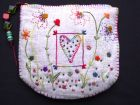 Embroidered garden Purse